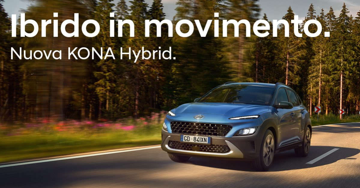 Nuova Kona Hybrid offerta del mese concessionaria Boattini Pesaro